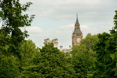 Beautiful park in London. St James Park at London Royalty Free Stock Images