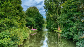 Beautiful park of Minnewaterpark in Brugge Royalty Free Stock Image