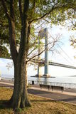 Beautiful park. Near Verrazano-Narrows Bridge royalty free stock photos