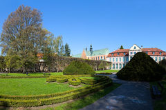 Beautiful park in Oliwa. Beautiful park on the background Cathedral in Oliwa, Poland Stock Photos