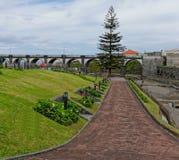 Beautiful park in Ribeira Grande Stock Image