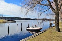 Beautiful park of Savonlinna, Finland stock images