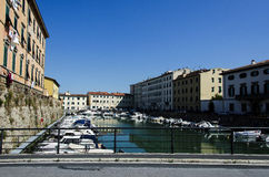 Beautiful part in the Port of Livorno Stock Photo