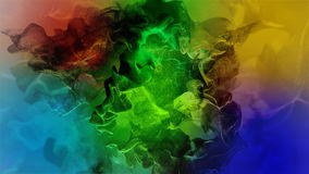 Beautiful particles on colored background, 3d illustration. 3d illustration on the abstract theme of beautiful particles Stock Photo