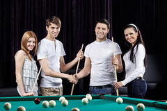 Beautiful party of billiards royalty free stock image