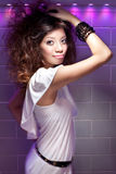 Beautiful party and dancing Asian Chinese girl Stock Photography