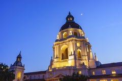 The beautiful Pasadena City Hall near Los Angeles, California. The beautiful night scene of Pasadena City Hall near Los Angeles, California Stock Image