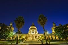 The beautiful Pasadena City Hall near Los Angeles, California Royalty Free Stock Images