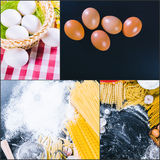 Beautiful pasta collage Stock Photography
