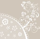 Beautiful pastel card with lace Stock Photo