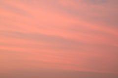 Beautiful Pastel Orange Pink Cloudy Sunset Sky of Bangkok Stock Images