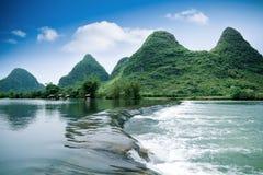Beautiful pastoral scenery in yangshuo. Yulong river,China stock photos