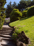 Beautiful mediterranean garden path Stock Photo