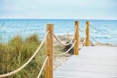 Beautiful path to beach into osean Stock Photo