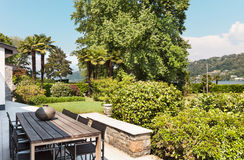 Beautiful patio of a villa Royalty Free Stock Photos