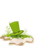 A beautiful Patrick's Day card with green cap. Royalty Free Stock Photo