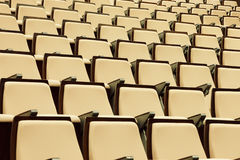 A beautiful pattern of auditorium seats Royalty Free Stock Image