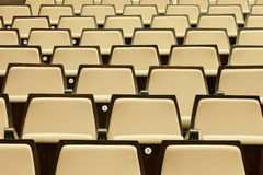 A beautiful pattern of auditorium seats Royalty Free Stock Photos