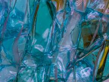 Beautiful pattern of blue glass crystals, abstract background, modern art royalty free stock photo