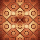 Beautiful pattern on a brown glass Stock Image
