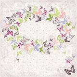 Beautiful  pattern with butterflies Royalty Free Stock Images