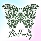 Beautiful pattern with butterfly Stock Photography
