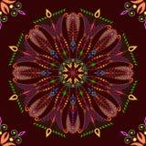 Beautiful pattern on dark background. Seamless Stock Photography