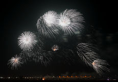 Beautiful pattern of Fireworks in the sky Royalty Free Stock Photos