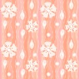Beautiful pattern with flowers on coral background Royalty Free Stock Photo