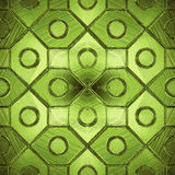 Beautiful pattern on a green glass Royalty Free Stock Photography