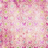 Beautiful pattern grunge old style with butterfly background Stock Image