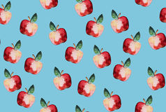 Beautiful pattern with hand drawn elements - cute apples waterco Stock Photography