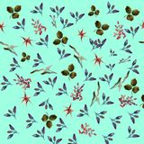Beautiful pattern illustration with flowers Royalty Free Stock Images