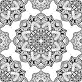 Beautiful pattern of mandalas. Beautiful  seamless pattern of mandalas. Abstract oriental ornament. Template for design shawls, carpets, bedspreads Stock Image