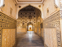 Beautiful pattern on the palace wall at Amer Fort Stock Photography