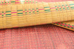 Beautiful pattern of papyrus mats Stock Photo