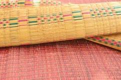 Beautiful pattern of papyrus mats Stock Photo