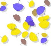 Beautiful pattern with scattered colorful umbrellas Royalty Free Stock Images