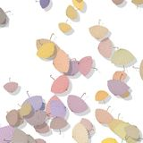 Beautiful pattern with scattered parasols Royalty Free Stock Photography