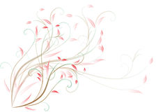 Beautiful pattern of scrolls and leaves Royalty Free Stock Photos