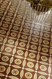 Beautiful patterned parquet from expensive wood Stock Image