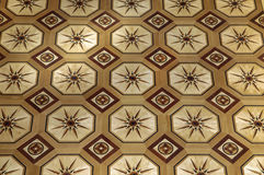 Beautiful patterned parquet from expensive wood Stock Photography