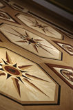 Beautiful patterned parquet from expensive wood Stock Images