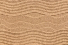 Beautiful patterns on the beach sand. View from above stock photography
