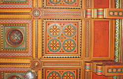 Beautiful patterns on the ceiling in Chernivtsi University Royalty Free Stock Photography