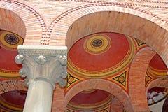 Beautiful patterns on the ceiling in Chernivtsi University. Western Ukraine, Europe Royalty Free Stock Photography