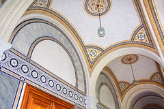 Beautiful patterns on the ceiling in Chernivtsi University, Western Ukraine, Stock Photography