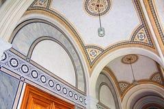 Beautiful patterns on the ceiling in Chernivtsi University, Western Ukraine,. Europe Stock Photography
