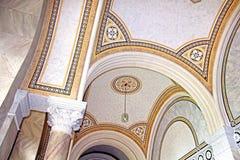 Beautiful patterns on the ceiling in Chernivtsi University, Western Ukraine. Europe Stock Photos