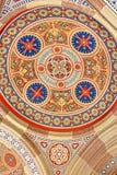 Beautiful patterns on the ceiling in the church of  Chernivtsi University. Western Ukraine, Europe Stock Photo